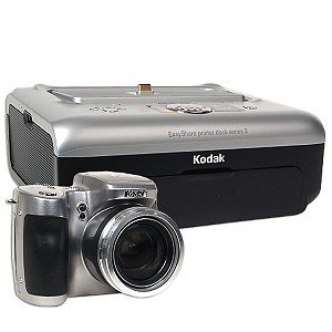 Kodak Z740 5MP 10x Zoom Digital Camera w/Kodak EasyShare Printer Dock Series 3 Print Dock & - Kodak Camera Printer Easyshare Dock