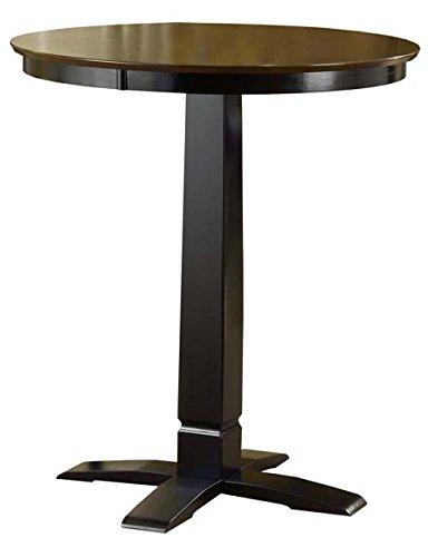 Hillsdale Dynamic Designs Pub Table in Black Dynamic Designs Brown Cherry