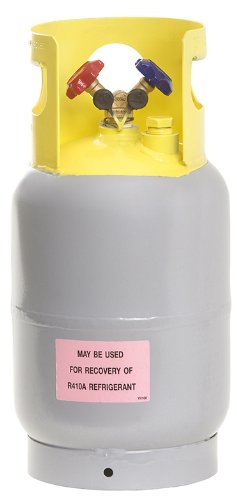 Flame King Refrigerant Recovery Cylinder Tank - Reusable - DOT Compliant - Y-Valve Liquid/Vapor - 30 LB Pound