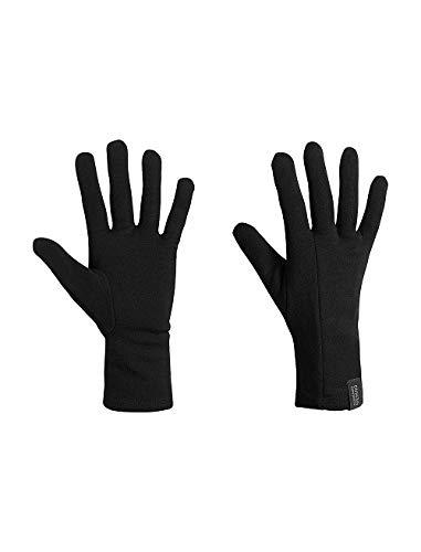 (Icebreaker Merino Unisex Apex Glove Liners , Black, Large )