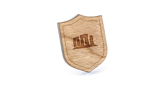 Stonehenge Ties - Stonehenge Lapel Pin, Wooden Pin and Tie Tack | Rustic and Minimalistic Groomsmen Gifts and Wedding Accessories