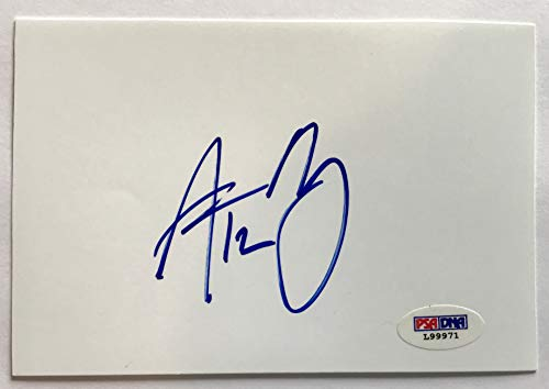 Aaron Rodgers signed cut index card style green bay packers autographed psa dna coa