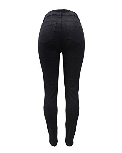 Boyfriend Skinny Leggings Up Push Vita A Alta Jeans Pantaloni Jeggings Guiran Nero Donna Leggins Stretch E5Ivq8nIBW