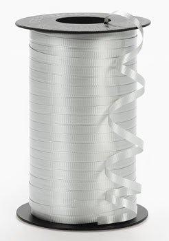 Oriental Trading Company PMU - Silver Curling Ribbon, 500 yds,Polypropylene Ribbon,Waterproof,Roll ()