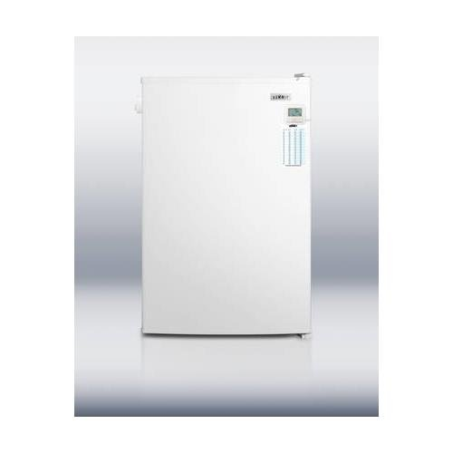 FS603LPLUS 24 Plus Series Compact Upright Freezer with 5 cu. ft. Capacity Traceable Thermometer Lock Wire Shelves and Manual Defrost in White