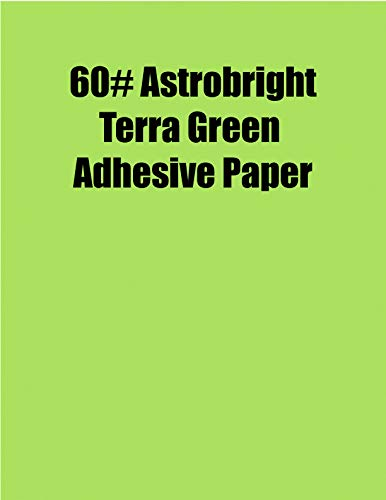 Spinnaker Coating Astrobright Terra Green 60# Adhesive Paper, Strip-Tac Plus, Permanent, 8.5 x 11, 100 Sheets/Box ()