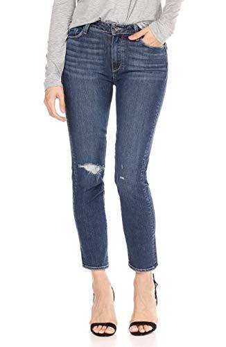 PAIGE Women's Jacqueline Straight Leg Jeans, Addax Destructed, 32