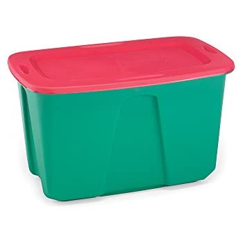 Amazoncom Homz Holiday Plastic Storage Tote Box 32 Gallon Green