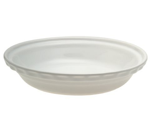 Chantal 9.5-inch Deep Pie Dish, White ()