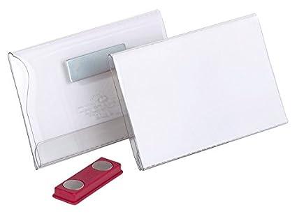 B-WARE Namensschilder 100 Stück PVC Schilder mit Clip 90mm x 56 mm transparent