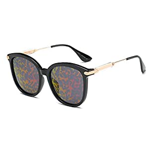 LUKEEXIN Personality Cat Eyes Lady's Sunglasses Polarized Lens Full TR90 UV Protection for Driving (Color : Red)