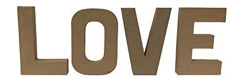 Paper Mache Letters Love 8quot x 55quot