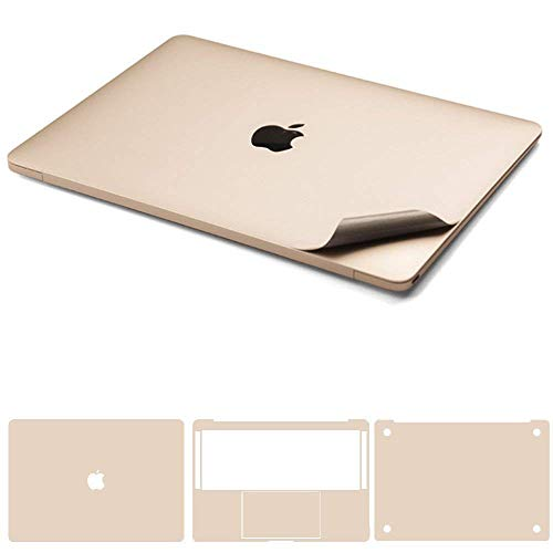 Leze - 4-in-1 Full Body Cover MacBook Skin Protector Decals Sticker for Apple Macbook Air 13-inch 13.3 A1466 & A1369 - Gold