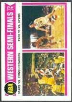 1974 Topps Regular (Basketball) card#247 ABA West Semi Finals of the - Undefined - Grade Excellent to Excellent Mint