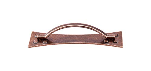 Top Knobs M251 Chateau Mission Pull w/Back Plate Copper