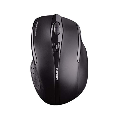 CHERRY MW 3000 Wireless Mouse 2.4 GHz w/Nano USB Receiver, Black