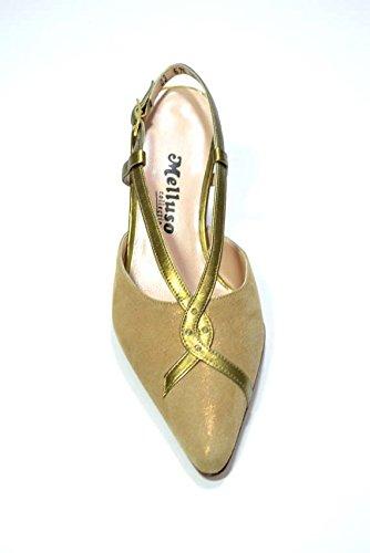 Melluso Decolte' scarpe donna rame eleganti E575