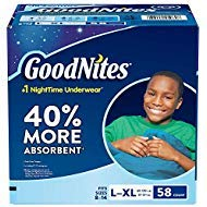 GoodNites Bedtime Bedwetting Underwear for Boys, (L-XL, 58 Ct.) by GoodNites