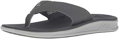 Reef Mens Rover Sandal/Flip Flops/Slipper Footwear, Charcoal/Blue Pop, Size 8