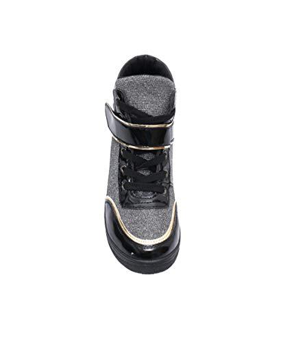 plata Tacón Negro Cuña Krisp Zapatillas 2976 Deportivas 7FSqE0WO