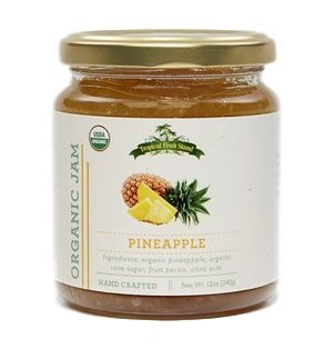 ORGANIC Pineapple Jam - Tropical Fruit Stand 12oz Jar - USDA Certified ORGANIC and KOSHER. Perfect flavor bursting of TROPICAL SWEETNESS | Enjoy over ice cream, toast or as great (Pineapple Ice Cream)