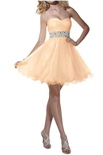 Promkleider Abendkleider Steine mia Herzausschnitt La Hell Orange Mini Braut Gelb Elegant Tuell Partykleider Guertel Cocktailkleider dvww8UZqA