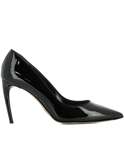 Alexander McQueen Women's 493449Whjua1000 Black Patent Leather Pumps