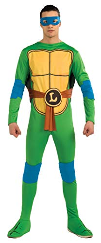Nickelodeon TMNT Adult Leonardo and Accessories, Green, Standard Costume