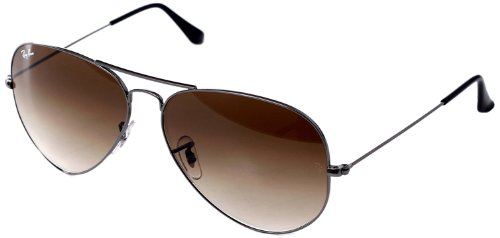 Ray-Ban Men's Large Metal Aviator Sunglasses, Gunmetal, 62 mm by Ray-Ban