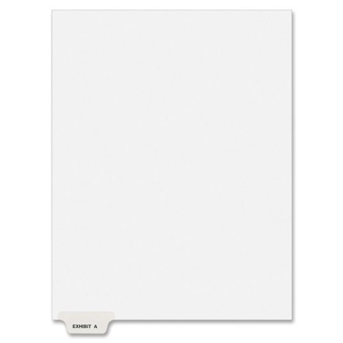(Avery Individual Legal Dividers, Letter Size, Exhibit A, Pack of 25 (11940), White)