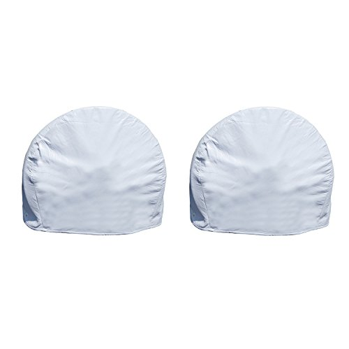 Dumble White RV Tire Covers Set of 2 for 40