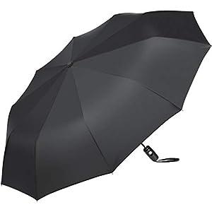AMIR Travel Umbrella, 10 Ribs Automatic Folding Umbrella, Windproof Umbrella with 40.9 inch, Compact Design, Auto Open Close Button Three-fold Sun& Rain Umbrella, Lightweight, Easy to Carry