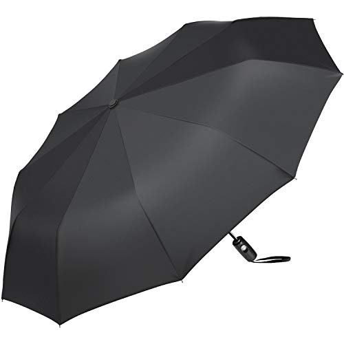 AMIR Travel Umbrella, 10 Ribs Automatic Folding Umbrella, Windproof Umbrella with 40.9 inch, Compact Design, Auto Open Close Button Three-fold Sun& Rain Umbrella, Lightweight, Easy to Carry by AMIR