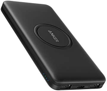 Anker Wireless Power Bank, PowerCore 10,000mAh Portable Charger with USB-C (Input Only), External Battery Pack Compatible with iPhone 12, Mini, Pro, Pro Max, Samsung, iPad 2020 Pro, AirPods, and More.
