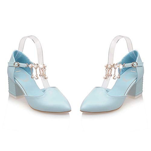 SDC05839 Femme AdeeSu Compensées Sandales Bleu TYvdznxU