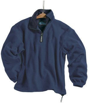 Tri-mountain Micro fleece 1/4 zip pullover. 7100TM - NAVY / NAVY_M by Tri-Mountain