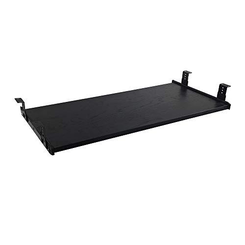- FRMSAET Furniture Accessories Office Product Suits Hardware 30'' Keyboard Drawer Tray Wood Holder Under Desk Adjustable Height Platform. (Large, Black)