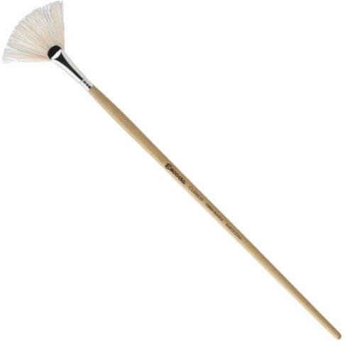 Escoda Clasico 5337 Oil & Acrylic Chungking White Bristle Paint Brush Fan; Size 6