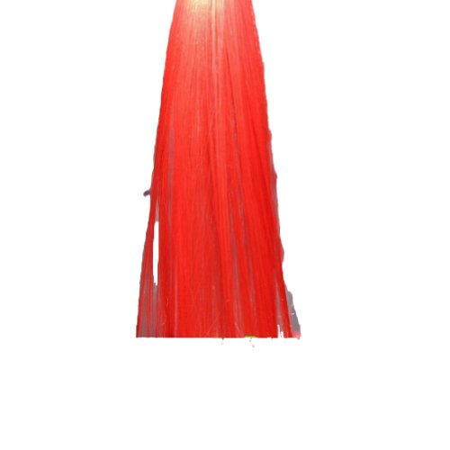 Urparcel Colorful Hair Extensions Party Colored Highlight Rock Clip In Hair Piece Red