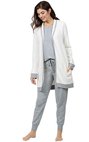 Addison Meadow Lounge Wear Women Sets - Womens Loungwear, 3-pc, Gray, S, 4-6 Casual Lounging Pant Set