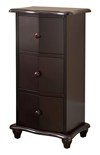 Kings Brand Furniture Dark Cherry Finish Wood 3 Drawer Accent Cabinet Chest by Kings Brand Furniture (Image #2)