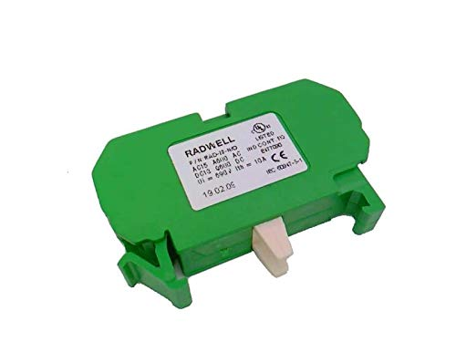 RADWELL VERIFIED SUBSTITUTE ZB4BW0G55-SUB Body/Contact Assembly, Full Product Replacement, 22.5MM, Direct Supply, Integral LED, 110-120V (50-60HZ), Orange, 1NO/1NC Contact Block