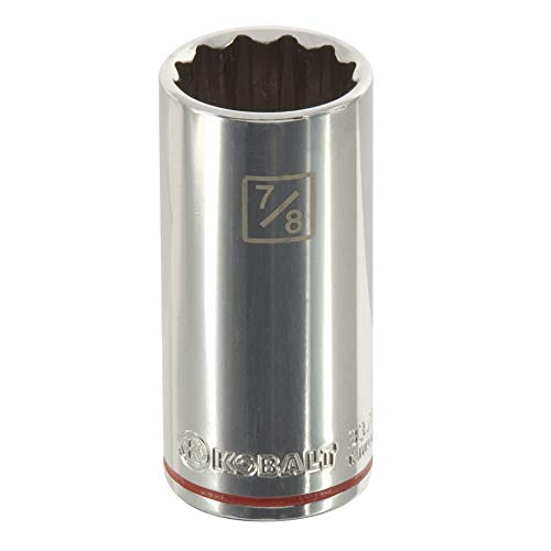 - Kobalt 337816 3/8-Inch Drive x 7/8-Inch Deep 12-Point Socket