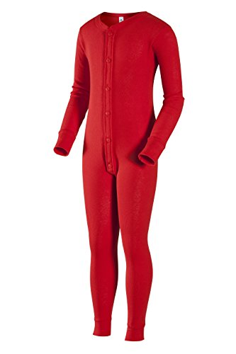 Indera Youth Union Suit, Red, Large