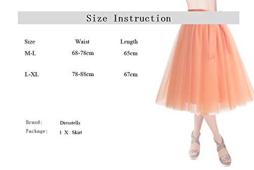 Tutu Red Party Evening Length Skirts Skirt DRESSTELLS Skirt Formal Knee Prom Tulle Gown q7wwUI0