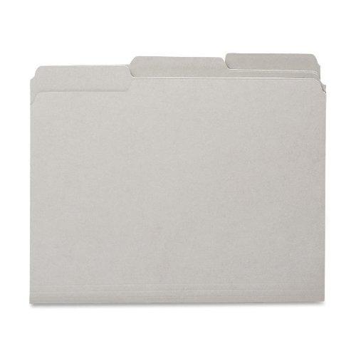 Smead Interior File Folder, 1/3-Cut Tab, Letter Size, Gray, 100 per Box - File Gray