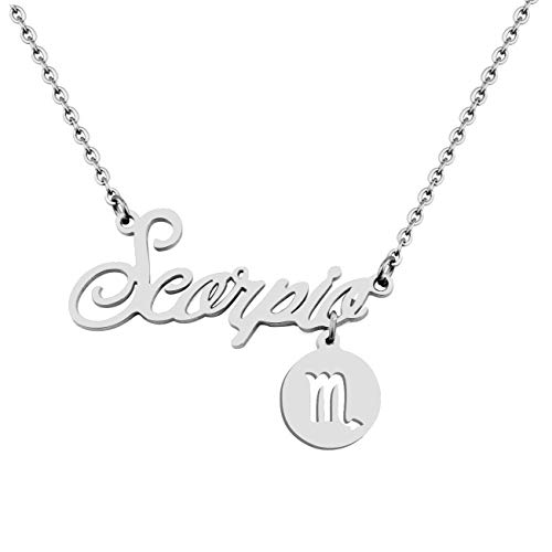 (Gzrlyf 12 Zodiac Sign Pendant Necklace Horoscope Astrology Jewelry Birthday Bridesmaid Gift (Scorpio Necklace))