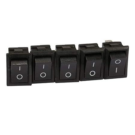 20 pi/èces dljztrade Distributeur deau de Voiture 2 Broches Interrupteur /à Bascule 6 A 250 V Noir Off//on Bateau