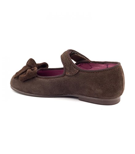 Boni Classic Shoes - Bailarinas de cuero Niña Daim Marron