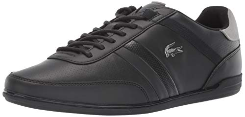Lacoste Men's Giron Sneaker, Black/Grey, 12 Medium US